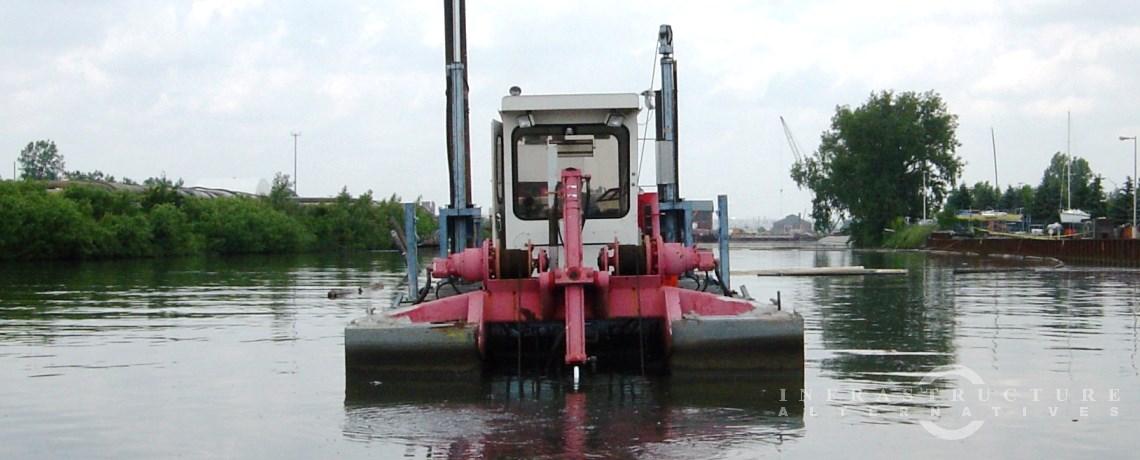 Environmental dredging in Detroit, Michigan