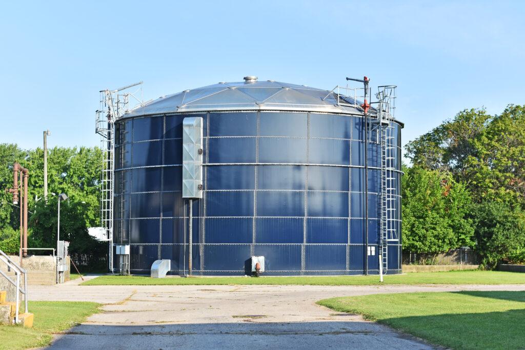 Sludge storage tank, Menominee Wastewater Treatment Facility