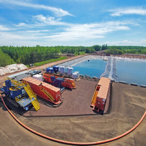250 GPM Water treatment system utilized during Phase I of the Spirit Lake Remediation project in Duluth, MN