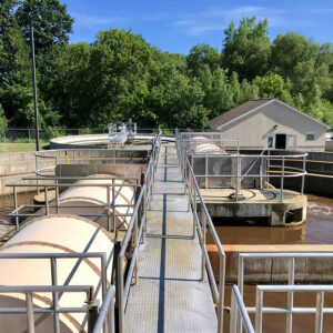 Oxidation ditch wastewater treatment facility in Michigan