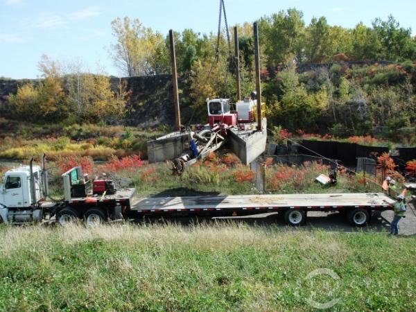"Picking the dredge, 8"" swinging ladder"