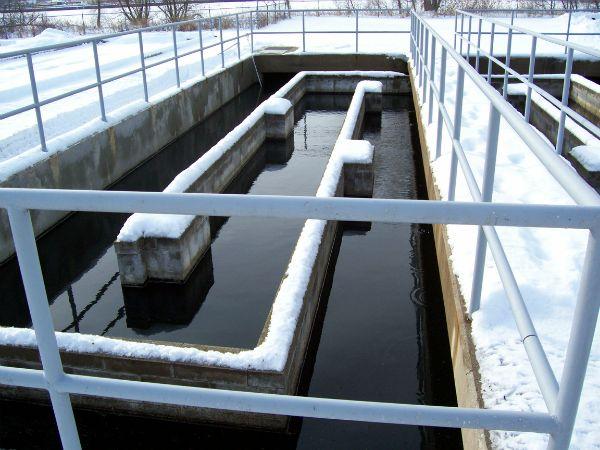 Chlorine contact basin