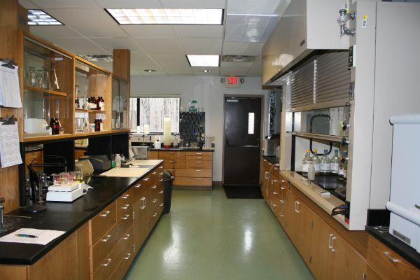 Wastewater treatment plant laboratory