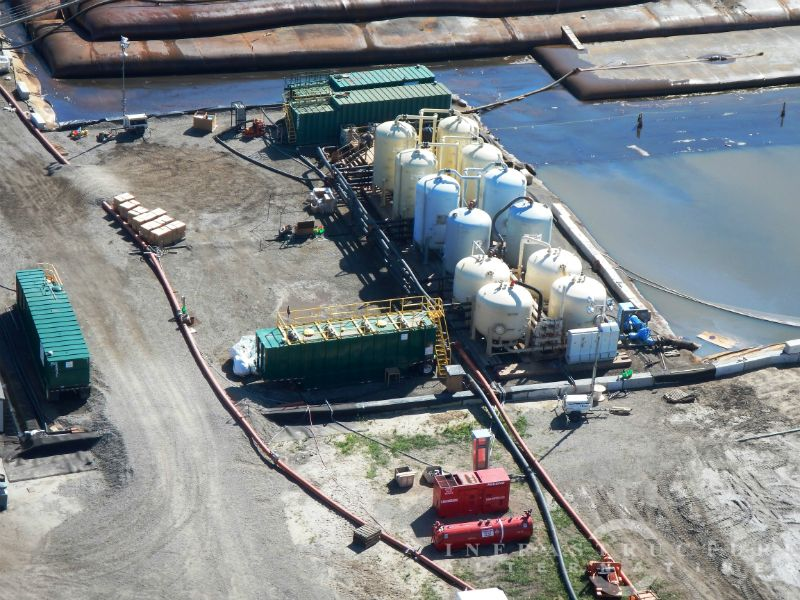 Aerial view of 4,500 gpm water treatment system