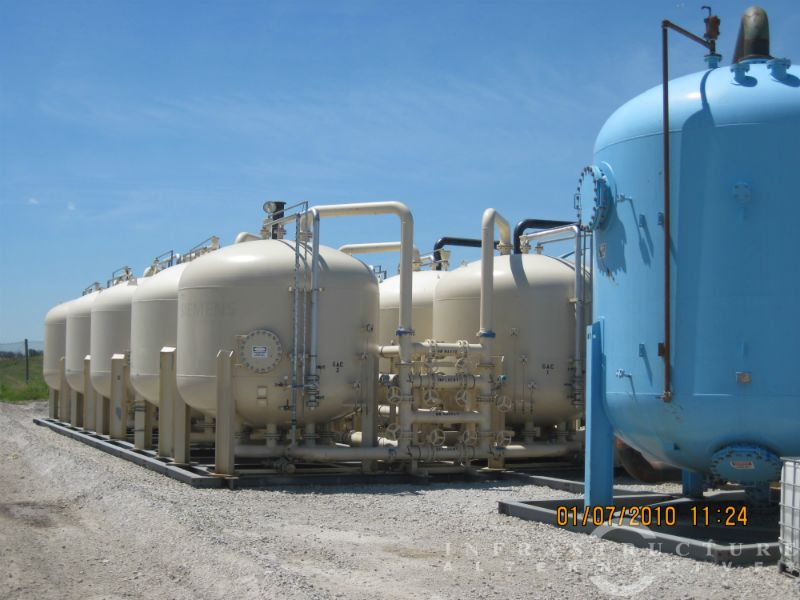 Sand filters and GAC vessels