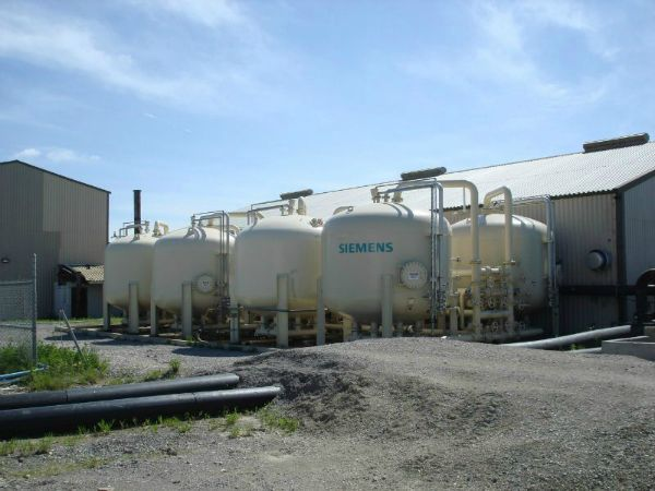 On-site wastewater treatment plant, GAC vessels, 05-29-2008