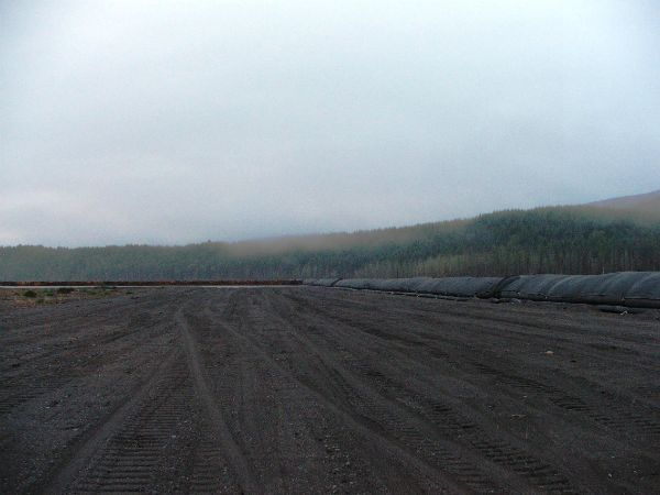 Completed geotextile tube structure