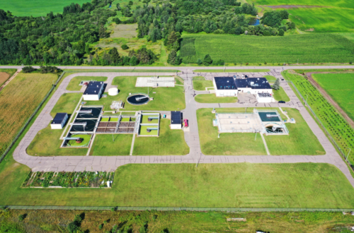 Aerial view of Springbrook Wastewater Plant