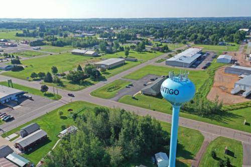 Water tower in the City of Antigo, Wisconsin