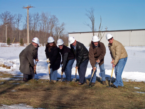 Groundbreaking at the office on Childsdale Ave, 2008