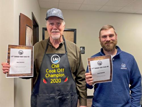 With Scott Ponstein, Chili Cook Off Winners, 2020