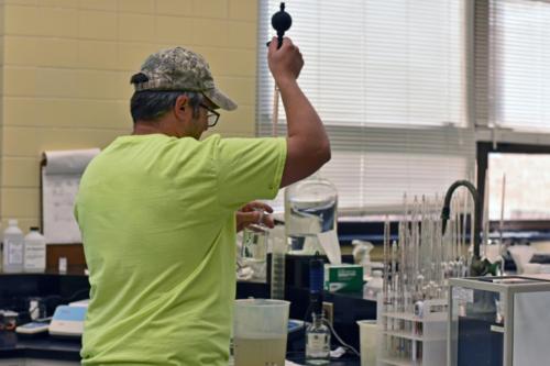 Operator in laboratory