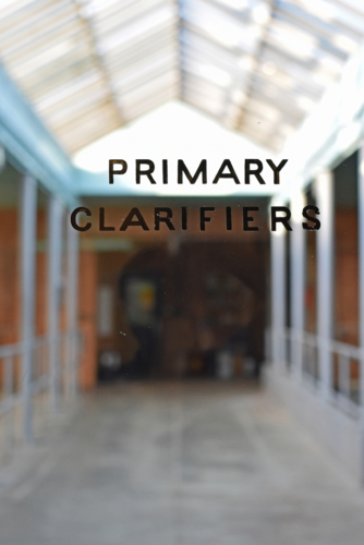 Primary clarifer building