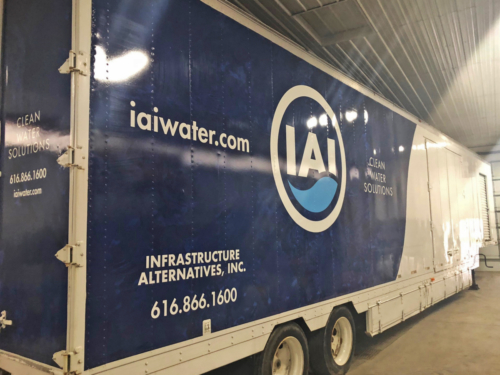 Mobile Water Treatment System Lamella Trailer Exterior