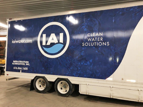Mobile Water Treatment System Filter Trailer Exterior