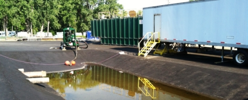 Mobile Water Treatment System @ River Raisin PCB Dredging Project