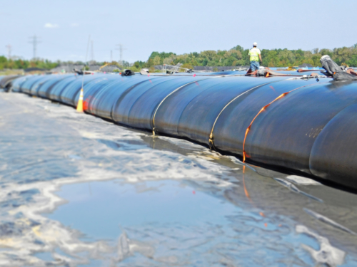 Dewatering geotextile tube