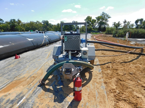 Geotextile tube filtrate pump