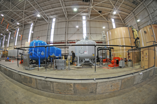 Interior portion of the wastewater treatment system, 11-01-2012