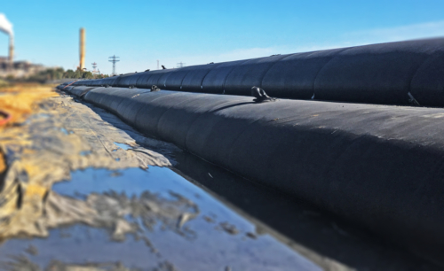 Geotextile tube wall