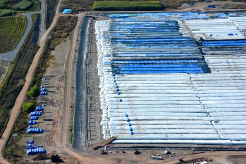 Onondaga Lake Cleanup dewatering pad