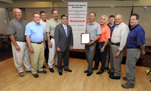 Project Team, 2014 WEDA Safety Award presentation