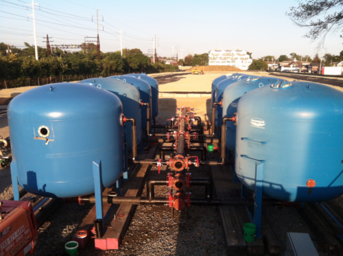 Water treatment system construction