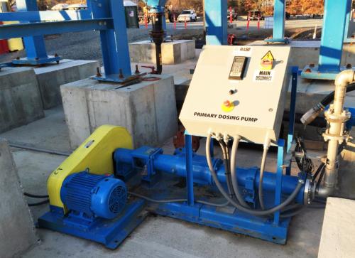 Polymer feed system