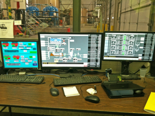 Operator interface to the wastewater treatment system PLC, 04-12-2013