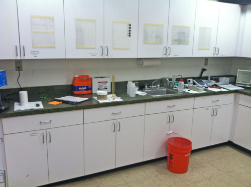 Wastewater treatment system laboratory, 04-24-2013