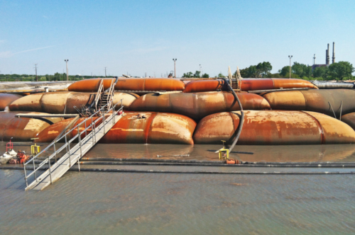 3rd layer geotextile tubes, 06-14-2013