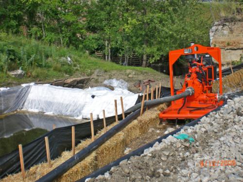 Treated water (effluent) pump
