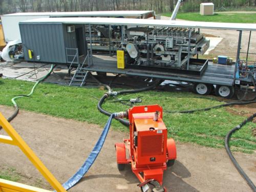 Belt filter dewatering equipment