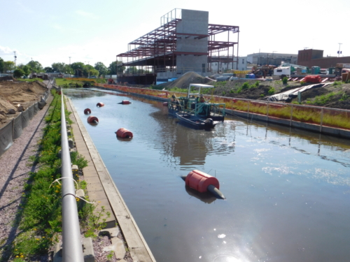 Dredging the canal