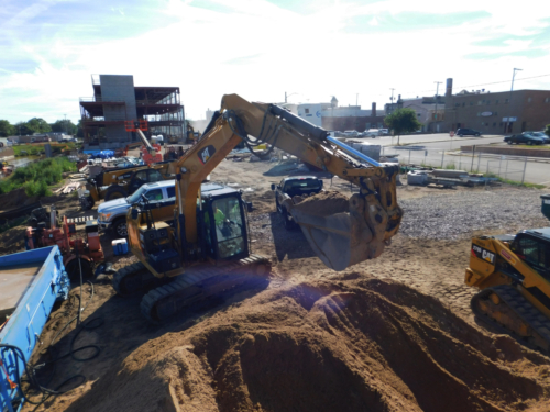 Loading sand into the slurry box for the capping operation