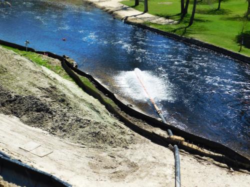 Treated water discharge into Cedar Creek